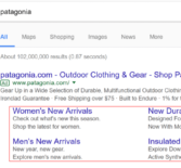 Google тестирует новый дизайн дополнительных ссылок AdWords